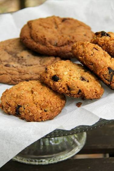 Malted Chocolate Chip cookies and Oatmeal Ginger Cranberry cookies