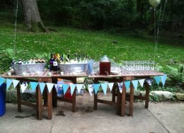Outdoor bar for a private party