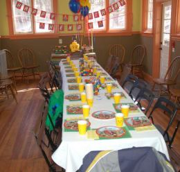 Decorated for a children's birthday party