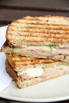 Ham, Brie, and Apple Sandwich