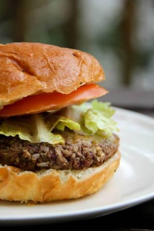 Veggie Burger made with seasonal ingredients